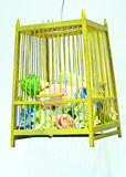 Decorative wedding flowers in a cage Royalty Free Stock Photos