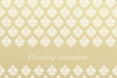 Decorative wedding invitation Royalty Free Stock Photography