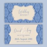 Decorative wedding invitation. Decorative design for a wedding invitation Royalty Free Stock Images