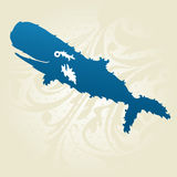 Decorative whale Stock Images