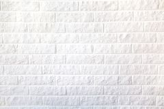 Decorative white brick wall for background stock photo
