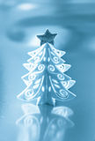 Decorative white Christmas tree Stock Images