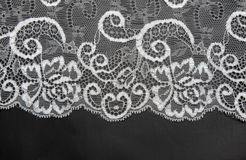 Decorative white lace on insulated Stock Photo
