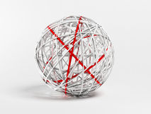 Decorative white and red ball Royalty Free Stock Photography