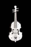 Decorative white violin isolated Stock Photo