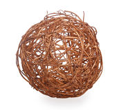 Decorative wicker ball Stock Photography