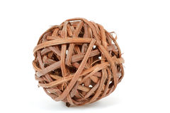 A decorative wicker wooden balls Royalty Free Stock Image