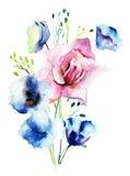 Decorative wild flowers Stock Photos