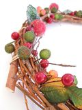 Decorative willow wreath Stock Images