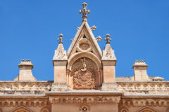 Decorative wimperg above the portal to the Bishop's Palace in Md Royalty Free Stock Image