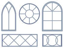 Decorative window blueprints Stock Photo