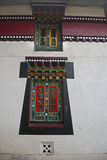 Decorative Window. The window of Enchey Monastery decorated with Buddhist Thanka painting Royalty Free Stock Photo