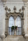 Decorative window in Evora, Portugal Stock Photos