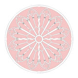 Decorative window frame. Vector illustration of a circular window frame like those used with stained glass windows stock illustration