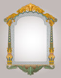 Decorative window frame. Vector illustration of decorative frame art in high quality details Stock Photos