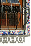 Decorative window grilles Stock Photos