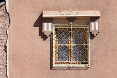 Decorative window in old Marrakesh building Royalty Free Stock Images