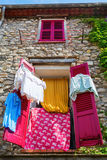Decorative window in the old town of Antibes, France Stock Photography