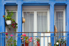 Decorative window with small balcony Royalty Free Stock Photo