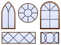 Decorative windows Stock Images
