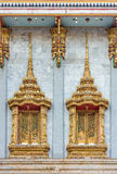 The decorative windows of Thai temple Stock Photo