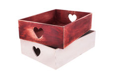 Decorative wine boxes. Decorative wine/gift boxes for Valentines Day Stock Images