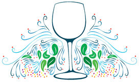 Decorative Wine Glass Stock Photos