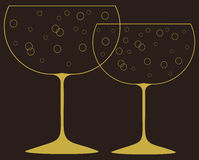 Decorative wine glasses. Stock Image