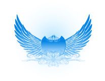 Decorative Wings in Blue Royalty Free Stock Image