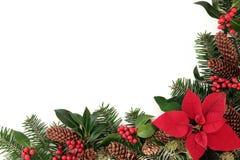 Decorative Winter Border Stock Images