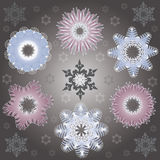 Decorative winter pattern with beautiful snowflake Stock Photos