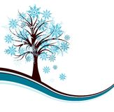Decorative winter tree background,  Stock Photos