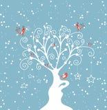 Decorative winter tree Royalty Free Stock Photo