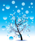 Decorative Winter Tree Royalty Free Stock Images