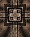 Brown Background with Cross on Wood royalty free stock photography