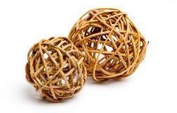 Decorative Wood Balls Isolated Royalty Free Stock Photos