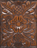Decorative wood carving abstract Stock Photo