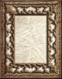 Decorative wood frame Royalty Free Stock Photo