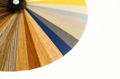 Decorative wood palette guide. Interior design. Stock Photography