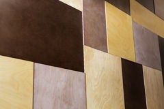 Decorative wood tile plywood in different colors Stock Image