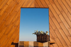 Decorative wood window Stock Image