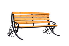 Decorative wooden bench Stock Image