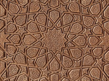 Decorative Wooden Carving with Islamic Persian Design Stock Images