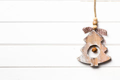 Decorative wooden christmas tree Stock Photography