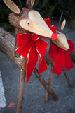 Decorative wooden deer Royalty Free Stock Image