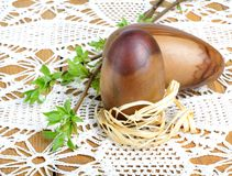 Decorative wooden Easter eggs Royalty Free Stock Photos