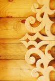 Decorative wooden element Stock Image