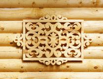 Decorative wooden element Royalty Free Stock Photo