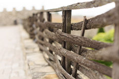 Decorative Wooden Fence Stock Photos