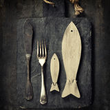 Decorative Wooden Fishes Royalty Free Stock Photos